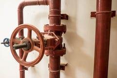 Válvula da água aberta na pensão Fotografia de Stock Royalty Free