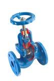 Válvula da água com flanges Imagens de Stock