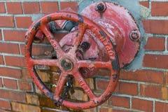 Válvula da água vermelha fotografia de stock