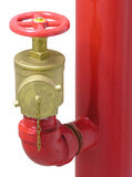 Válvula da mangueira de incêndio imagem de stock