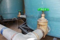 Válvula da tubulação de água Imagens de Stock