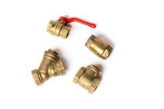 Válvula de bola, válvula de verificação, filtro de água Imagem de Stock