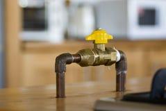 Válvula de cierre del gas Fotografía de archivo