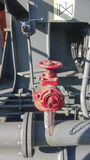 Válvula de cierre manual del tubo del mercado del abastecimiento de agua lin Fotografía de archivo libre de regalías