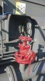 Válvula de cierre manual del tubo del mercado del abastecimiento de agua lin Fotos de archivo libres de regalías