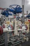 Válvula de control de flujo de Pneunatic para la refinería industrial o la fábrica de productos químicos Foto de archivo