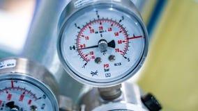 Válvula de control industrial de regulador de presión fotografía de archivo