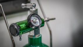 Válvula de control de presión del regulador del oxígeno foto de archivo libre de regalías
