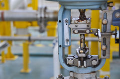 Válvula de controle, indicador para a posição do monitor ou o estado da função da válvula, válvula de controle da pressão ou válv Imagem de Stock