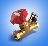 Válvula de Crane Balancing sin el drenaje para sondear la representación 3D Stock de ilustración