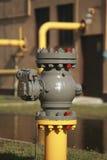 Válvula de gas Imagen de archivo libre de regalías