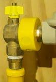 Válvula de gas Fotografía de archivo libre de regalías