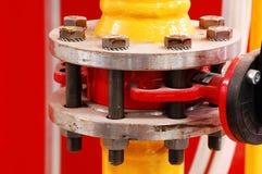 Válvula de gas Foto de archivo libre de regalías