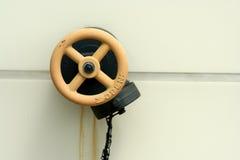 Válvula de la manguera de bomberos Imagen de archivo