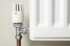 Válvula de la temperatura del radiador Imagen de archivo libre de regalías