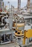 Válvula de mariposa neumática para la refinería o la fábrica de productos químicos Imágenes de archivo libres de regalías