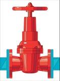 Válvula de puerta Imagen de archivo libre de regalías