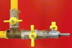 Válvula de verificação do gás Fotos de Stock Royalty Free