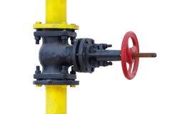 Válvula de verificación de gas Fotografía de archivo