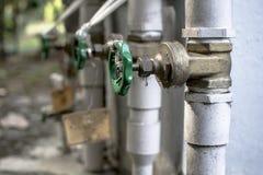 Válvula del abastecimiento de agua Imagen de archivo
