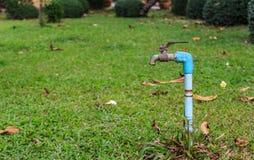 Válvula del abastecimiento de agua Foto de archivo