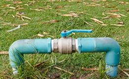 Válvula del abastecimiento de agua Imagen de archivo libre de regalías