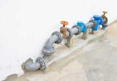 Válvula del abastecimiento de agua Fotografía de archivo