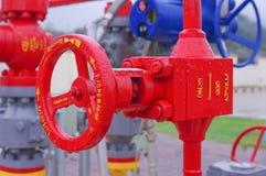 Válvula del equipo del gaseoducto foto de archivo