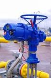 Válvula del equipo del gaseoducto foto de archivo libre de regalías