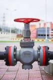 Válvula del equipo del gaseoducto fotos de archivo libres de regalías