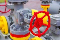 Válvula del equipo del gaseoducto fotos de archivo