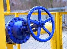 Válvula del gaseoducto natural Fotografía de archivo libre de regalías