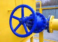 Válvula del gaseoducto natural Foto de archivo libre de regalías