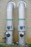 Válvula del tubo de agua Fotos de archivo