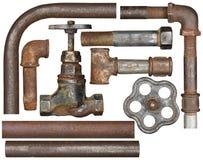 Válvula e tubulações fotografia de stock
