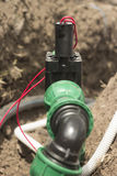 Válvula eletromagnética de sistemas molhando automáticos Foto de Stock Royalty Free