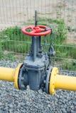 Válvula en el gaseoducto Foto de archivo libre de regalías
