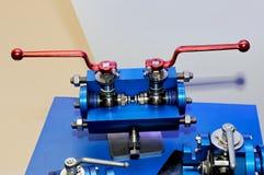 Válvula giratória industrial para conduzir imagens de stock
