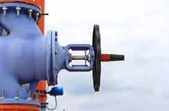 Válvula grande azul Foto de archivo libre de regalías