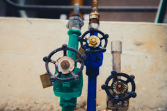 Válvula industrial del tubo/válvula de puerta Fotos de archivo