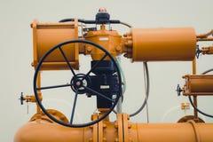 Válvula industrial del tubo/válvula de puerta Imagenes de archivo