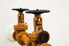Válvula industrial del tubo/válvula de puerta foto de archivo libre de regalías