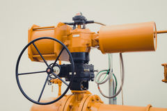 Válvula industrial del tubo/válvula de puerta Imágenes de archivo libres de regalías