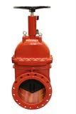 Válvula industrial roja de la prevención contra los incendios Imágenes de archivo libres de regalías