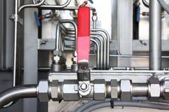 Válvula neumática en un petróleo y gas industrial Imagen de archivo libre de regalías