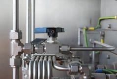 Válvula neumática en un petróleo y gas industrial Imágenes de archivo libres de regalías
