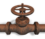 Válvula oxidada ilustração stock