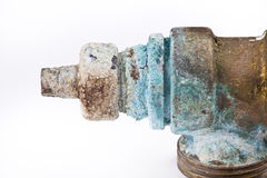 Válvula oxidada fotos de stock