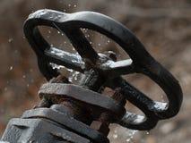 Válvula oxidada quebrada de la parte posterior Imágenes de archivo libres de regalías