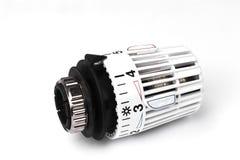 Válvula termostática do radiador - custos de aquecimento Fotos de Stock
